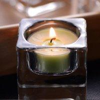 حاملي الشموع شفافة الشمال 4 حزمة زجاج شمعدان الكريستال شاي ضوء هدية للمنزل الطرف الزفاف الجدول ديكور اليدوية