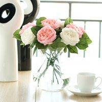 Künstliche Rose Pfingstrose Seidenblume Valentinstag Festival Geschenk Jubiläum Hochzeit Home Bouquet Party Büro Tisch Arrangements Dekor 132 V2