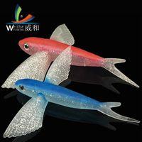 BIONIC Voando Pesca de Pesca Suave Atum Luya Bait 17cm 21cm Big Wing Fish
