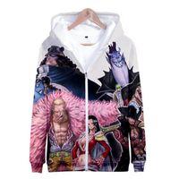 Anime Um pedaço Luffy Ace Lei Zoro 3D Outfit Suéter Homens Mulheres Hoodies Zipper Casaco Jaqueta Pullover Uniforme Cosplay Traje