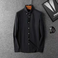 2021 New Brand Business Casual Shirt Mens Long Sleeve Striped Slim Fit Camisa Masculina Social Male T -Shirts New Fashion Man Checked Shirt