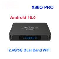 X96Q Pro Allwinner H313 Android 10 TV Box 1G8G 2G16G 2.4 جرام 5 جرام المزدوج الفرقة wifi smat tvbox android10.0 4K تعيين صناديق أعلى مع شاشة LED