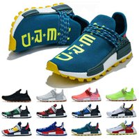 Nmd Human Race Men Women Running Shoes Pharrell Williams Hu White Black Yellow Red Grey Sky Blue Trainers Sports Sneakers Mens Size 5 -12