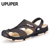 Upper New Summer Herren Hausschuhe Hohl Weiche Boden Strand Schuhe Rutschfeste Männer Schuhe Flip Flops Billig Sandalen Wasser Schuhe 210302
