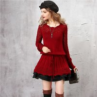 Женская арка осень элегантный длинный свитер для женщин шерстяные пуловер винтажные джемпер плюс размер девушки свитера lb1 pujr