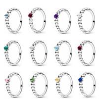 100% 925 Sterling Silver Gennaio Febbraio Marzo Ottobre maggio giugno Luglio Agosto Settembre Ottobre Novembre Dicembre Birthstone Ring 8 R2