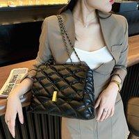 여성을위한 Lingge 크로스 바디 가방 2021 새로운 패션 체인 핸드백 어깨 가방 여성 고품질 덱스터 다운 가방