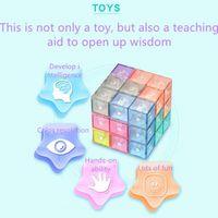 2021 Magic Fidget Toys Magnetic Building Blocks Cube Card Version Soma Cubes Tangram Toy 2021 New Design