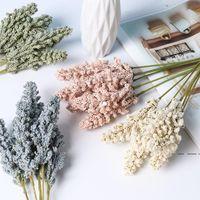 6 teile / bündel Mini Künstliche Vanille Spike Faux Wandpflanze Gefälschte Blume Schaum Getreide Blumenstrauß Hochzeit Dekor liefert Requisiten FWD5255