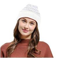 الأفق الأزياء والحفاظ على الدفء و Windproof قبعة النساء المرأة عيد الميلاد محبوك الصوف الشتاء ديكور