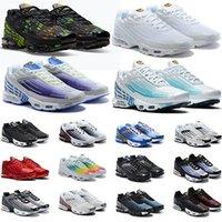 الاحذية 97 الثلاثي أسود أبيض ولدت أمة Nike Air Max TN Plus 3 الل USA ساوث بيتش كودري حزمة رجل إمرأة المدربين الرياضية حذاء رياضة حجم 36-45