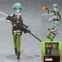 Süße Anime Sword Art Online Figure Brinquedos Figmmatte 241 Sinon Asada Sao 2 PVC Action Figure Sammlung Modell Kinder Spielzeug Puppe 15 cm x0522