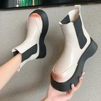 Boots Wedge Women's Rubber Shoes Rain Round Toe Luxury Designer Boots-Women Rock Fashion 2021 Low Autumn Ladies Ankle