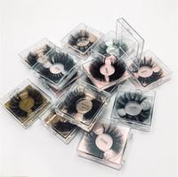 25-29 mm 5D mink cils longs dramatiques double épaisseur coiffe mignon mignon faux cils faux cils moelleux volumin 8d mink lashes gratuit personnaliser logo