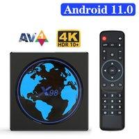 Smart TV Box Android 11 X98Mini Amlogic S905W2 Quad Core 2.4G 5G Wifi 100M 4K 60fps Media Player X98 Mini 2GB 16GB