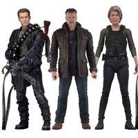 NECA Terminator Abbildung 2 Urteil Tag T-800 Sarah Connor Arnold Schwarzenegger Action Figuren Sammeln Modell Spielzeug
