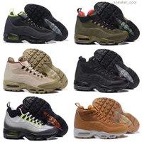 Klasik Koşucu Sneakerboot 20. Yıldönümü Orta Ayakkabı Ordusu Çizmeler erkek Sonbahar Kış Ayak Bileği Mühürlü-Zip Eğitim Sneakers Ayakkabı 40-46