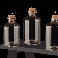 Şeffaf cam şişeler mantar tıpa boş baharat şişeler kavanoz hediye el sanatları flakonlar 24 adet 50 ml boyutu 40 * 63 * 12.5mm 687 k2