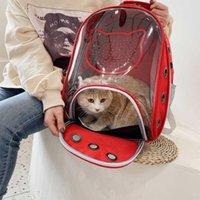 Mochila portadora de mascotas, portador de burbujas impermeables, gatos y cachorros, aprobado por la aerolínea, diseñado para viajar, senderismo