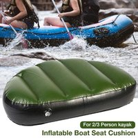 Rafts Inflatable Boats Kayak Boat Inflatable Seat Cushion Waterproof Wear-resistant Comfortable Blow Up Pad For 2 3 Person ( Not A )