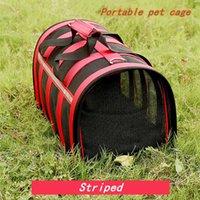 Haustier Hund Katze Handtasche Vierseitig atmungsaktive Net Pet Bag Ausflug Tragbarer faltbarer Haustierkäfig