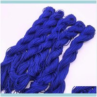 Arts And Arts, Crafts Gifts Home & Garden20Yards 1.0Mm Nylon Cord Thread Chinese Knot Rame Rattai Braided String Jewelry Making Diy Tassels