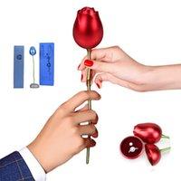 금속 장미 꽃 보석 상자 수 지 기본 선물 상자 포장 크리스마스 발렌타인 선물 선물 홈 장식 장식품