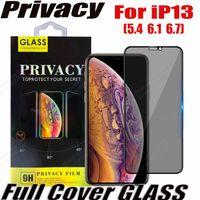 Privatsphäre Anti-Peeping Anti-Spion-Full Cover Tempered Gla Screen Protector für iPhone 13 12 11 PRO MAX XR XS Samsung A72 A52 A42 A32 A22 A12 A02S 5G mit Kleinkasten
