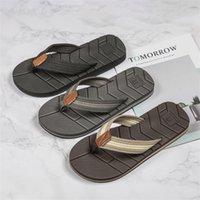 WOTTE Sommer Hausschuhe Männer Entwässerung Rutschfeste Flip Flops Männer Strandrutschen Schuhe Outdoor Comfort Chanclas Hombre Große Größe 40-50 210226