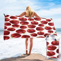 Towel Bathing Pomegranate Pattern Bath Wearable Dress Fast Drying Beach Spa Magical Nightwear Sleeping