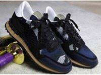 [Orijinal Kutu] Camo Mesh Nefes Kaya Koşucular Sneakers Kamuflaj Erkekler Spor Camo Çift Kaya Çiviler Açık Eğitmenler