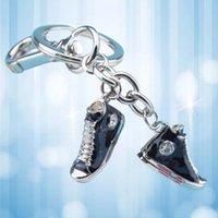 Schlüsselanhänger Metallsportschuhe Schlüsselanhänger Mode Nette Auto Schlüsselring Frau Männer Kinder Ringgeschenk Mini für Tasche