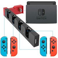 Caricabatterie antipolvere Stazione di ricarica Piccola PG-9186 Carrying Decor per Switch Joy Game con controller di gioco