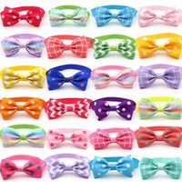 Dog Apparel 50 100 Pcs Supplies Mix Styles Dogs Pet Bow Ties Adjustable Grooming Bowtie Accessories Puppy Bowties Necktie