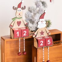 Novelty Items Christmas Wooden Eld Erly Elk Desktop Decorations Creative Countdown Ornaments For Home