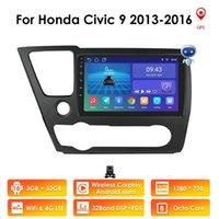 Android 10 3 + 32GB DSP Varia Radio Multimidia Video Player Navigation GPS voiture stéréo pour Honda Civic 9 2013-2016 2Din Head Unité RDS