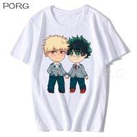 Смешные Япония аниме мой герой академические футболки мужские унисекс уличная одежда футболка повседневная короткая рукава футболка Homme мужская хлопковая футболка