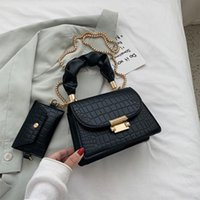 Waist Bags Fashion Stone Pattern Chain Shoulder For Women 2022 Trend White Designer Handbag Totes With Coin Purse Female 5202