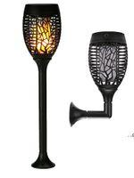 Yeni Gelmesi Güneş Torch Işıkları Bahçe Fener Alev Lambası Açık 96LED Peyzaj Çim Lambası Eklemek Avlu Dekorasyon Duvar Lambası FWE7777