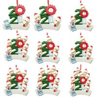 Resin Outdoor Christmas Decorations Sale,2021 Personalized Diy Décor,factory Price Wholesale,family of 1-9