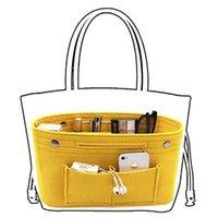 Storage Bags Makeup Organizer Cosmetic Bag Felt Cloth Insert Multi-pockets Fits In Handbag For Travel