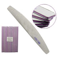 10pcs / lot Professional Nail File 100/180 Half Moon Sandpaper Nail Levigaing Blocks Rettificatura strumenti di cura manicure