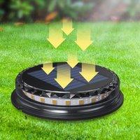 Lawn Lamps LED Solar Powered Disk Lights Outdoor Waterproof Garden Landscape Lighting For Yard Deck Patio Pathway Walkway