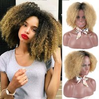 Synthetic Wigs HOUYAN Afro Kinky Curly Wig Fluffy Hair For Black Women Heat Resistant