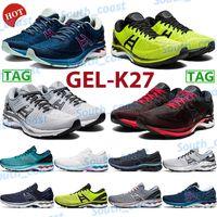 Hot Gel-K27 Running Shoes Homens Mulheres Clássico Clássico Lime Vermelho Zest Black Triple Branco Platina Pura Prata Mako Azul Low Outdoor Sneakers US 4-11