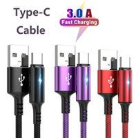 Quick Charging 3A Type C Cables for Samsung S10 S9 Android smartphone data line Cable 3ft 6ft USB High-end Fast Charge Cord