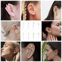 스터드 GS Boho 훅 귀걸이 스털링 과장된 925 실버 랩 크롤러 등산객 피어싱 특이한 여성 귀
