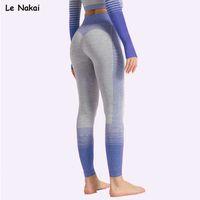 Leggings sans couture Le Nakai Sport Fitness Femmes Haute taille Sport Gym Leggings Push up Pantalon Yoga Hiver Fitness Vêtements X0628