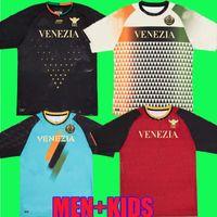 21 22 Venezia FC Soccer Jerseys Inicio Aleat Forte Fiordo Fiorrilino Peretz Heymans Tessmann Crnigoi 2021 2022 Mariano Johnsen Mazzocchi Camisetas de fútbol Adukt Kids Kit