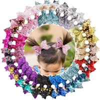 Hair Accessories 30Pcs Glitter Bows Clips 4 Inch Bunt Sequins Hairclips Alligator Boutique For Baby Girls Teens Kids